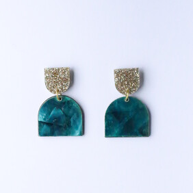Moonlight  Earrings - Turquoise Shell